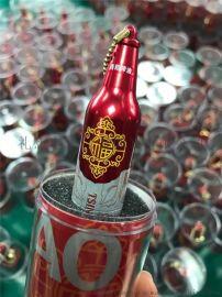 创意新奇特金属啤酒瓶U盘 定制商务广告啤酒类促销赠品