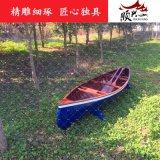 興化市順興木船廠家直銷裝飾皮划艇、2-4人手划船、木質皮划艇、情侶手划船