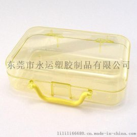 PS小号高透明手提化妆盒彩妆盒小收纳饰品盒 化妆品储物盒