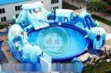 冰雪世界移动水上乐园 充气水滑梯 大闹龙宫充气城堡大气包来啦来啦 夏天就要赚钱啊