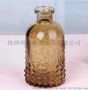 复古彩色浮雕玻璃瓶花瓶家居摆件插花瓶橱窗装饰客厅水培玻璃花器