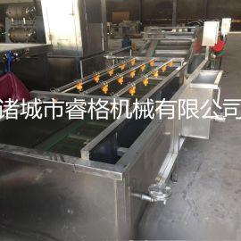 蔬菜清洗风干流水线 小龙虾气泡清洗机