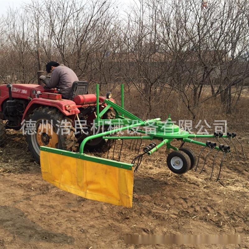 攤摟一體機單旋轉摟草機雙旋轉攤曬機 牧場專用攤摟一體機