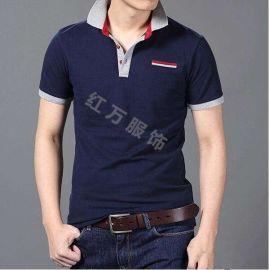 上海红万订做男女T恤可加logo T恤衫