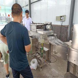 得尔润牌鸡柳上雪花片设备市场操作 面包虾裹糠机材质