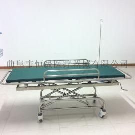 不锈钢担架车 医用 救护车用不锈钢可升降 医院用