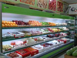 郑州水果蔬菜店节能风幕柜,串串菜品保鲜柜上门安装