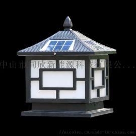 同心照明太阳能柱头灯家用室外花园别墅庭院灯围墙灯