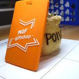 橙色工作卡套吊牌 矽膠證件套掛牌