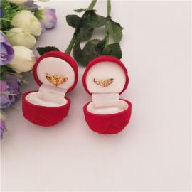 玫瑰花圆型戒指盒吊坠盒耳钉盒结婚求婚礼品包装盒