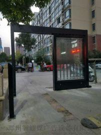 小區人行道燈箱廣告平移門,廣告平開門
