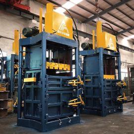 手动打包机 立式液压打包机 80吨废纸海绵压包机