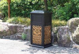 广州舒纳和户外铸铝垃圾桶结实美观耐用环保