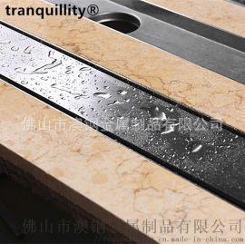 嵌板式不鏽鋼長地漏 外貿工程長地漏 水封防臭長地漏