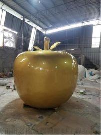 苹果造型雕塑,大型玻璃钢雕塑厂家