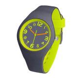深圳鍾表廠家推出時尚新款雙色硅膠石英手表