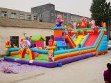 过春节经营大型室外充气城堡一天赚万元