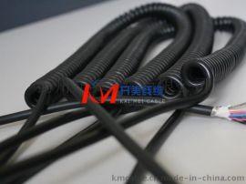 电子手轮弹簧线 21*0.1镀锡铜丝**螺旋电缆