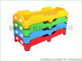 加厚幼儿园儿童塑料单人床厂家