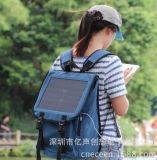 ECEEN  高效帆布經典商務10W旅行手機/ipad/相機充電背包