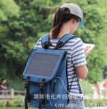 ECEEN畅销高效帆布经典商务10W旅行手机/ipad/相机充电背包