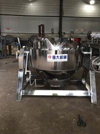 供应蜜饯熬制夹层锅 不锈钢自动搅拌夹层锅