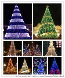 大型厂家铁艺圣诞树 led造型圣诞装饰灯