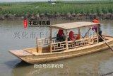 情侣手划船 专业木船厂家打造手工旅游船