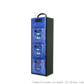 环保无线户外便携式木质蓝牙音箱 插卡多功能礼品音箱