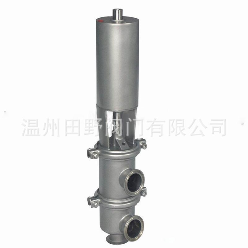304不锈钢卫生型快装气动两位三通阀换向阀 Φ25-Φ51可定制