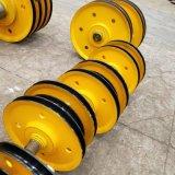 供应20t夹轮不带轴承滑轮组 灰铁滑轮组 热轧轮片