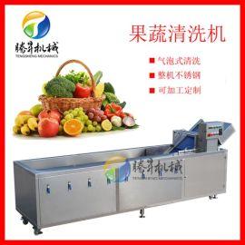 厂家定制果蔬消毒清洗机 商用臭氧去农残气泡洗菜机