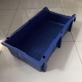 厂家收纳塑料盒A8 长方形PE塑料周转盘五金零件盒 工具盒批发