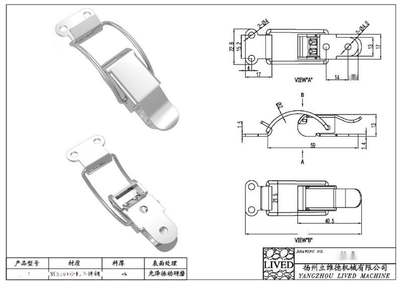 l供应多种型号的 【质量保证】 SUS304不锈钢搭扣