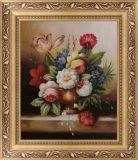 南京古典花卉油画pifa 纯手工花卉油画现货