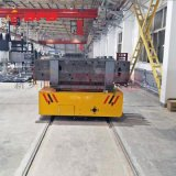 電瓶式55噸平板導軌車 鋼管運輸地軌車
