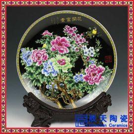 青花手绘纪念盘, 彩绘陶瓷纪念盘