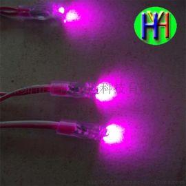 LED9毫米粉红外露灯串粉红色外露灯