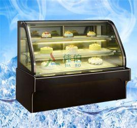 JB-DGG-W2风冷前/后开门蛋糕柜,慕斯水果面包三明治保鲜冷藏展示柜
