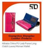 皮具生产厂 供应定制 女士长钱夹 长款真皮钱包手拿包 日韩版皮夹女士可爱三折钱包