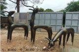 公園綠地抽象鹿雕塑 玻璃鋼小鹿雕塑價格 現貨模擬鹿雕塑