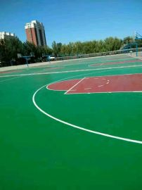 奥丽奇塑胶 硅PU场地 塑胶篮球场建造