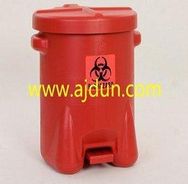 EAGLE红色聚乙烯生物废弃物桶 14加仑化学品垃圾桶947BIO