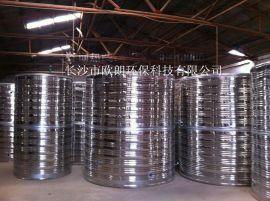 供应不锈钢304材质圆柱形水箱,环保耐用!
