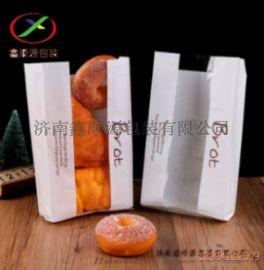 食品级烘绿色环保烘焙包装纸袋 面包纸袋定制厂家