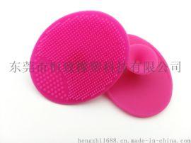 创意带吸盘硅胶洗面刷洁面刷 安全**硅胶柔软洗头刷