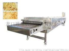 鱿鱼海产品网带式烤箱烘烤不锈钢 龙口博瑞机械设备