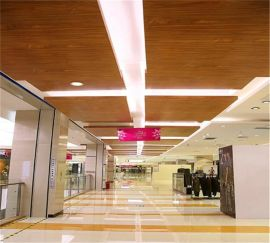 包柱3mm木纹铝单板大剧院装饰西安厂家