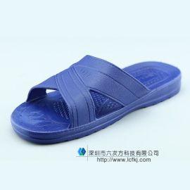 防静电拖鞋SPU静电鞋子蓝色无尘鞋夏季透气防滑工作鞋男女劳保鞋