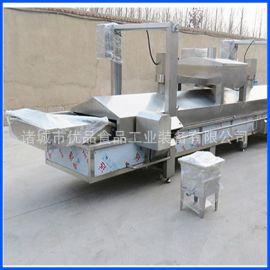 鱼豆腐冷冻食品油炸生产线 火锅鱼豆腐油炸流水线